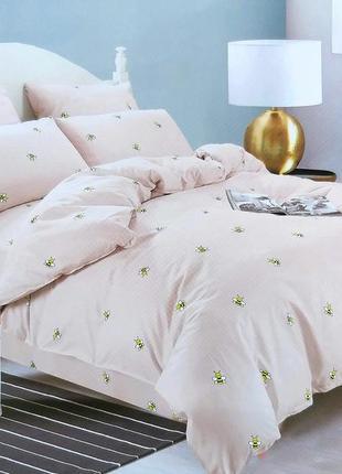Двуспальное постельное бельё и евро сатин софт, комплект постельного белья 180×220 турция