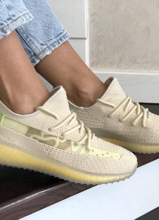 Летние модные женские кроссовки yeezy boost 350 v2, текстиль