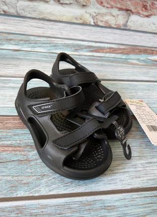 Сандалии crocs swiftwater expedition черные 206267 c8, c9 25-26