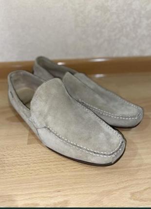Замшевые туфли lacoste