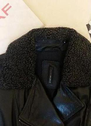 Шикарная кожаная курточка 100% кожи ягненка, naf naf не massimo