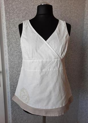 Женский топ, блуза. ☆56%лен, ☆44%cotton. bravissimo.