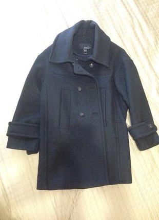 Стильное шерстяное пальто mango