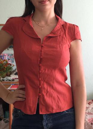 Блуза льняная marks&spencer