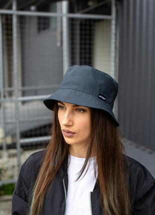 Панамка without logo dark gray woman