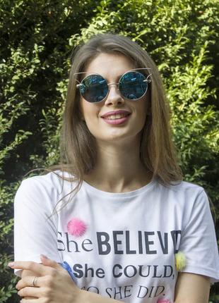 Очки женские солнцезащитные очки в стильной оправе.акция💥💥💥