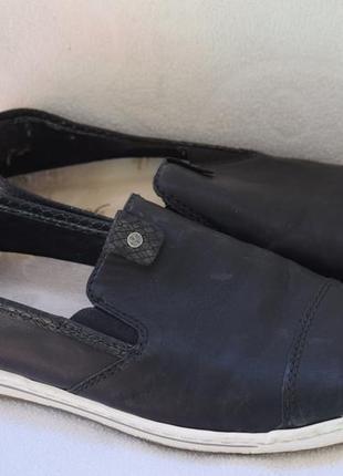 Кожаные туфли мокасины слипоны rieker р.41 26,6 см