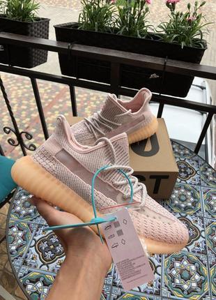 Летние модные кроссовки yeezy boost 350 v2, текстиль