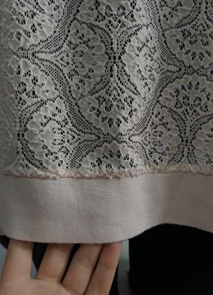 Гипюровый прозрачный свитшот, кофта, реглан, бледно-розовый свитшот7 фото