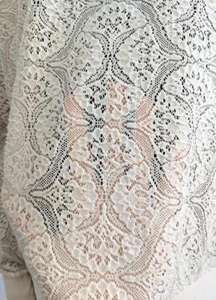 Гипюровый прозрачный свитшот, кофта, реглан, бледно-розовый свитшот4 фото