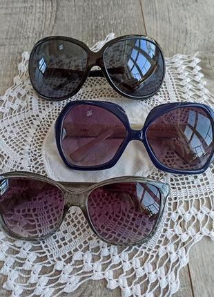 Сонцезахисні окуляри різні 3 шт сонячні солнцезащитные очки разные комплект набір