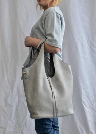 Шоппер производство италия сумка женская бежевая