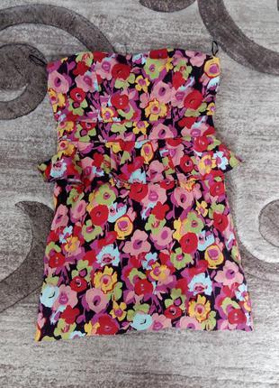 Платье в цветы короткое от new look