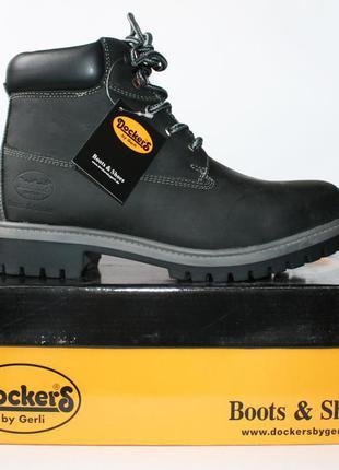 Зимние ботинки dockers оригинал. натуральная кожа, мех. 35 36