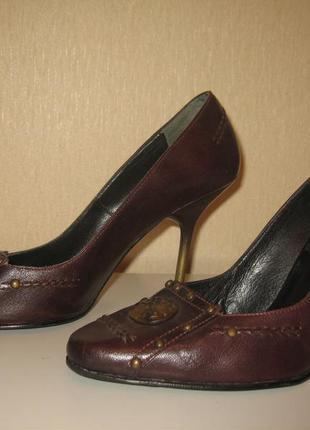 Туфли кожаные италия