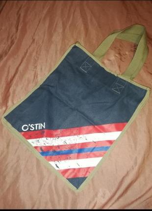 Джинсовая, котоновая, тканевая сумка шоппер, пляжная сумка торба