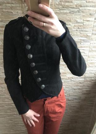Шикарное пальто полупальто-пиджак валяное милитари сюртук denimco
