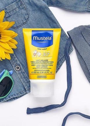 Mustela детский солнцезащитный лосьон spf 50, 100 мл мустела
