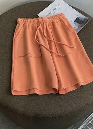 Шорты высокая посадка завышенная талия широкая резинка свободные шорты оверсайз7 фото