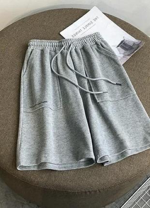 Шорты высокая посадка завышенная талия широкая резинка свободные шорты оверсайз6 фото