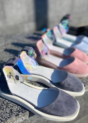 Новинка📢 туфельки натуральная замша и кожа❤