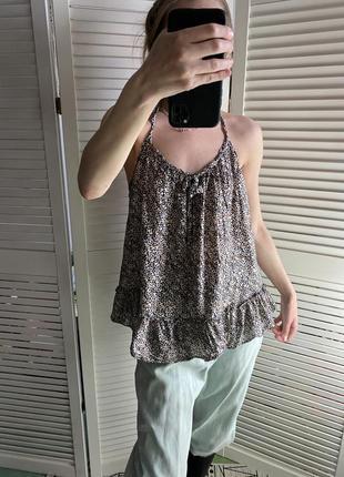 Красивейшая блуза топ леопардовая с шёлком в составе victoria's secret