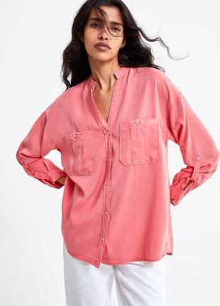 Новая женская рубашка zara xs s l xl zara сорочка жіноча 42 44 48 50 zara блуза