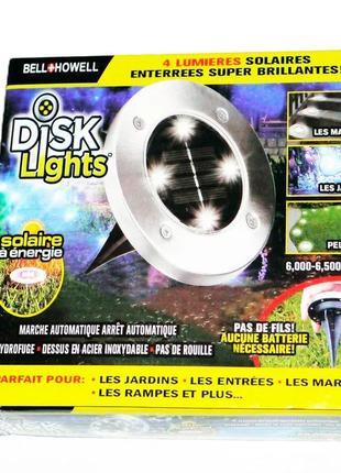 Уличный светильник на солнечной батарее, bell howell disk lights, садовый фонарь