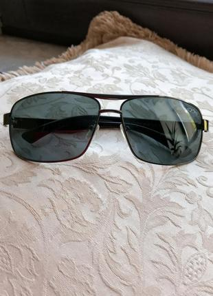 Фирменные чёрные солнцезащитные очки авиаторы cardeo