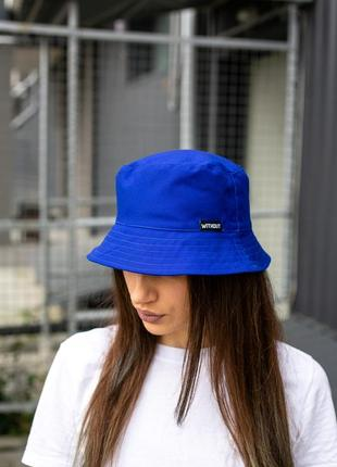 Панамка without logo blue woman