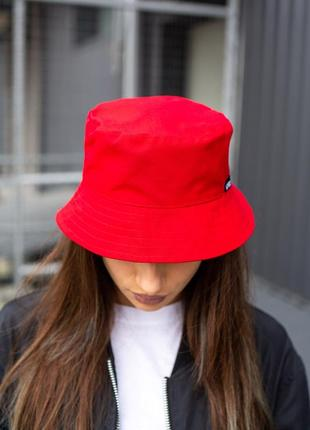 Панамка without logo red woman