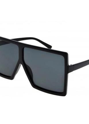 Женские очки черные солнцезащитные новые квадратные большие