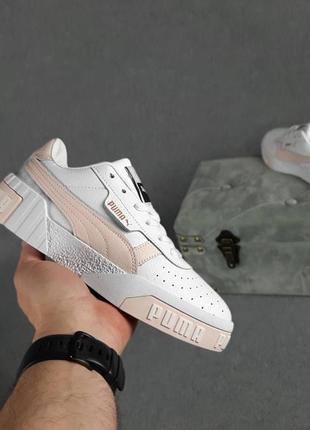 Женские кроссовки puma cali белые