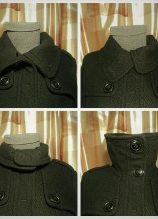 Демисезонное ,осеннее, шерсть 70%, пальто с поясом, черное3