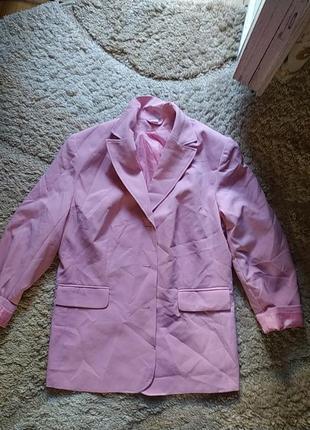 Жакет,мега стильний, чудовий рожевий ванільний колір