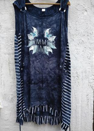 Стильное платье, сарафан, туника из вискозы, из германии.