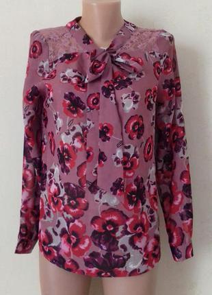 Красивая блуза с принтом и кружевом next