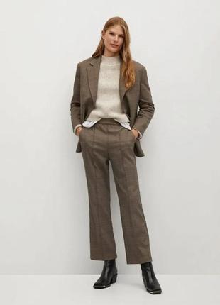 Стильні костюмні брюки в клітинку mango штани клетку commited conscious