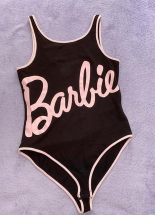 Женское чёрное боди barbie