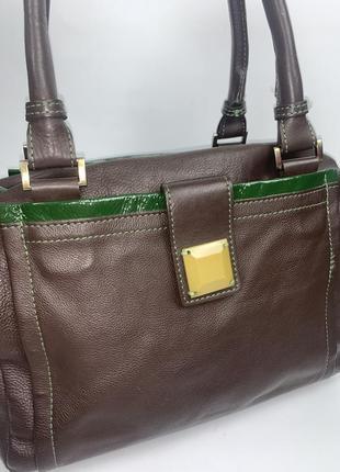 Англия! большая кожаная фирменная обьемная практичная сумочка на/ в руку, на плечо boden.