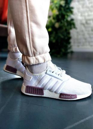 Nmd violet white 36,37,38,39 кроссовки кросівки