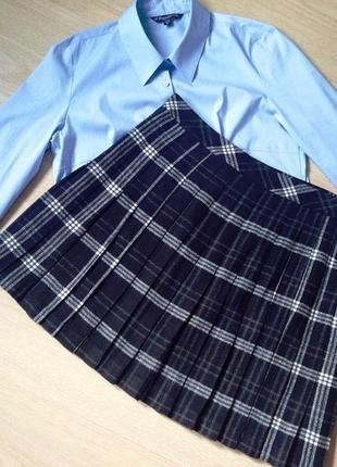 """Стильный и комфортный комплект в стиле """"casual"""": юбка в складку и блуза"""