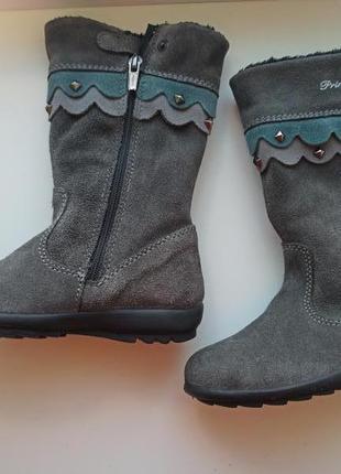 Нові чобітки, сапожки демісезонні, осінні ботинки, замшеві