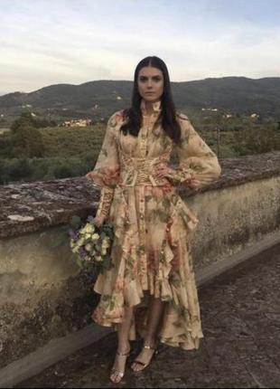 Красивое платье в винтажном стиле zimmerman новое