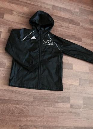 Детская ветровка adidas чёрная xs размер