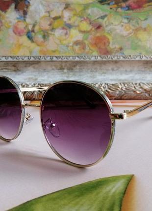 Эксклюзивные брендовые круглые солнцезащитные женские очки