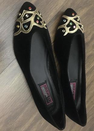 Туфли женские весенние чёрные замшевые, размер 36-37.1 фото
