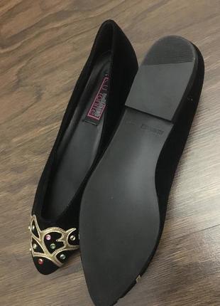 Туфли женские весенние чёрные замшевые, размер 36-37.3 фото