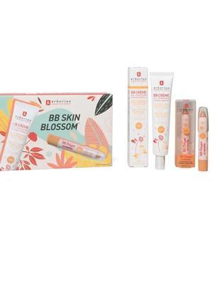 Подарочный набор erborian bb skin blossom: крем bb nude и консилер bb nude crayon