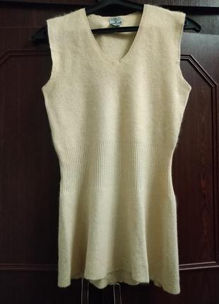 Термобелье,ангоровая безшовная футболка из 60% ангоры awoba